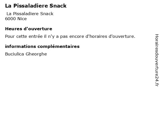 La Pissaladiere Snack à Nice: adresse et heures d'ouverture