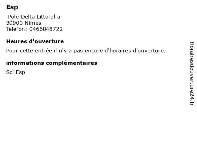 Esp à Nimes: adresse et heures d'ouverture