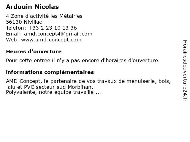 Ardouin Nicolas à Nivillac: adresse et heures d'ouverture