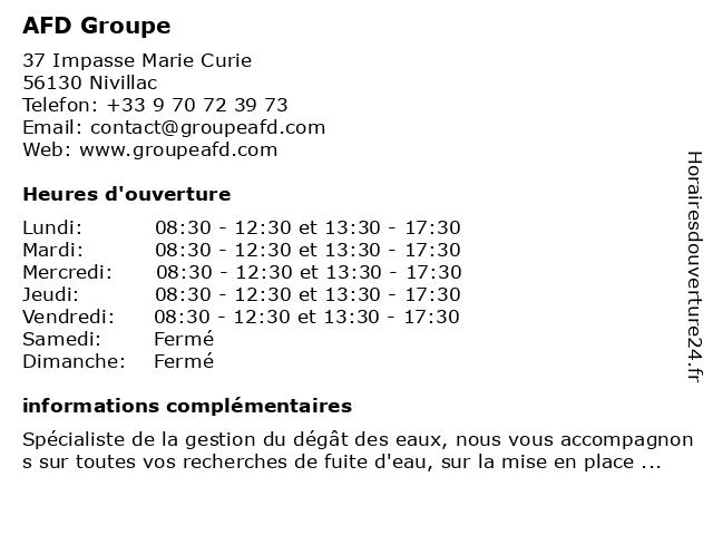 Groupe AFD à Nivillac: adresse et heures d'ouverture