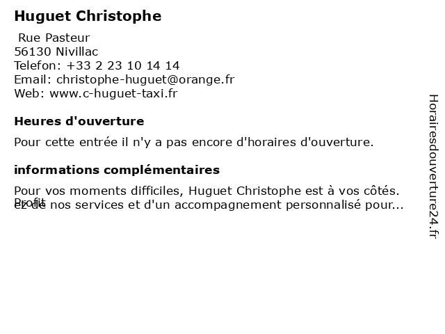 Huguet Christophe à Nivillac: adresse et heures d'ouverture