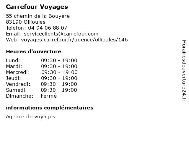 Carrefour à Ollioules: adresse et heures d'ouverture
