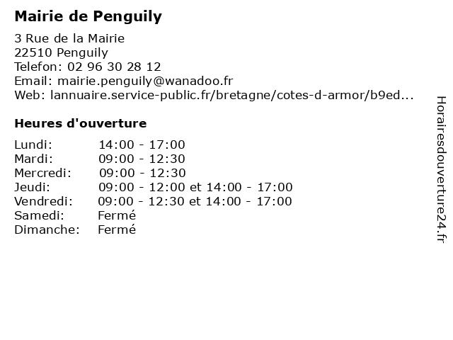 Mairie de Penguily à Penguily: adresse et heures d'ouverture
