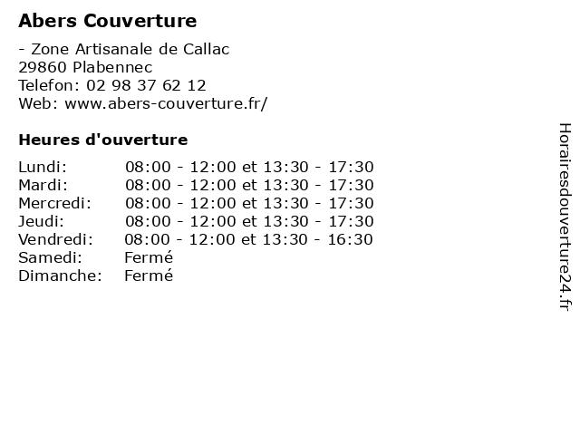 Abers Couverture à Plabennec: adresse et heures d'ouverture