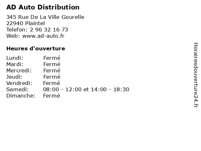 AD Auto Distribution à Plaintel: adresse et heures d'ouverture