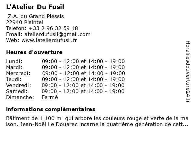 L'Atelier Du Fusil à Plaintel: adresse et heures d'ouverture