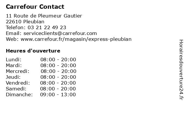 Carrefour Contact à Pleubian: adresse et heures d'ouverture