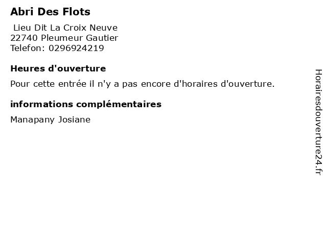 Abri Des Flots à Pleumeur Gautier: adresse et heures d'ouverture
