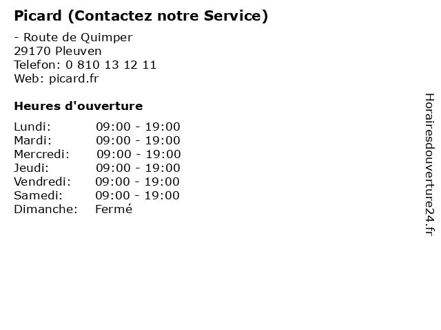 Picard (Contactez notre Service) à Pleuven: adresse et heures d'ouverture