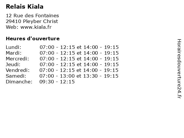 Relais Kiala à Pleyber Christ: adresse et heures d'ouverture