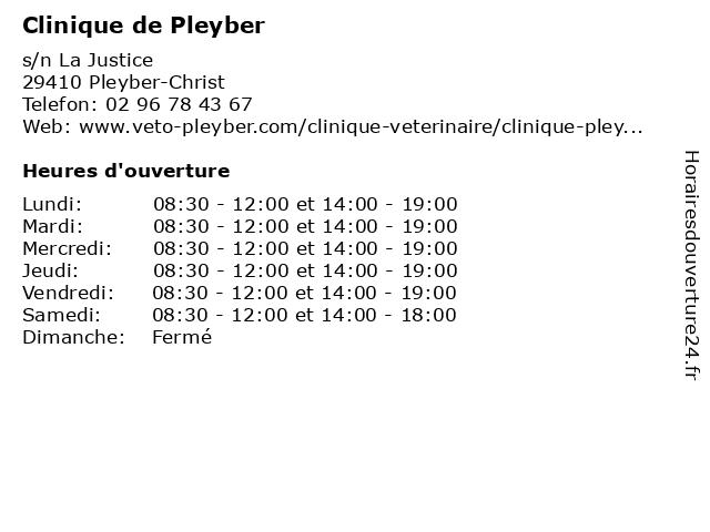 Clinique de Pleyber à Pleyber-Christ: adresse et heures d'ouverture