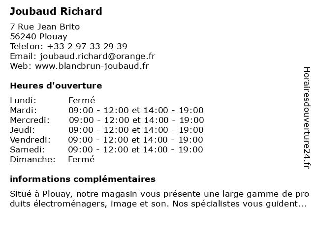 Blanc Brun à Plouay: adresse et heures d'ouverture