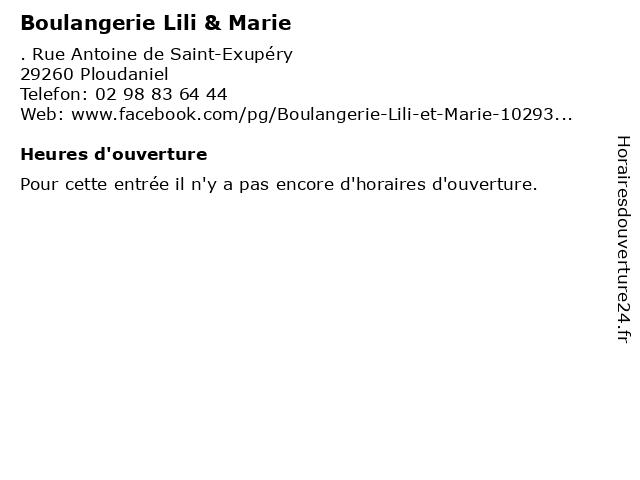 Boulangerie Lili & Marie à Ploudaniel: adresse et heures d'ouverture
