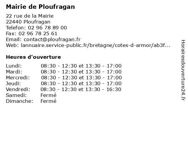 Mairie de Ploufragan à Ploufragan: adresse et heures d'ouverture