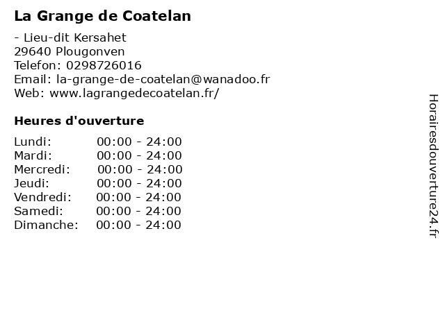 La Grange de Coatelan à Plougonven: adresse et heures d'ouverture