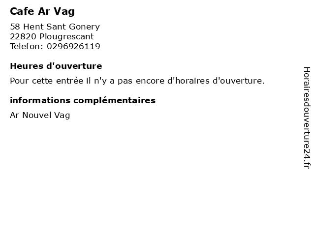 Cafe Ar Vag à Plougrescant: adresse et heures d'ouverture