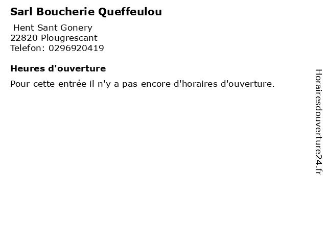 Sarl Boucherie Queffeulou à Plougrescant: adresse et heures d'ouverture