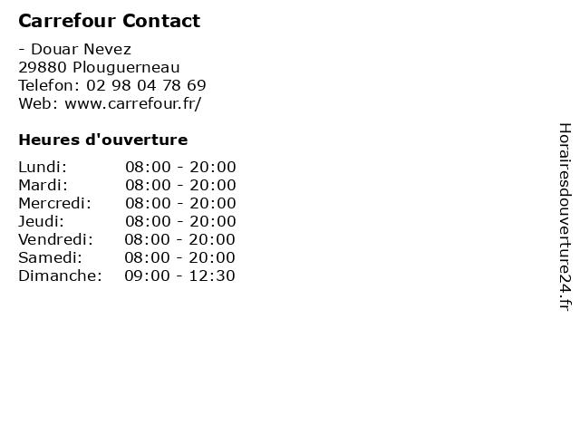 Carrefour Contact à Plouguerneau: adresse et heures d'ouverture
