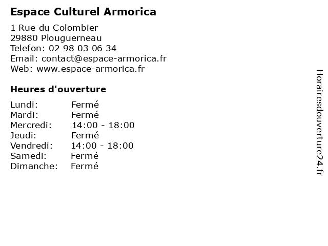 Espace Culturel Armorica à Plouguerneau: adresse et heures d'ouverture