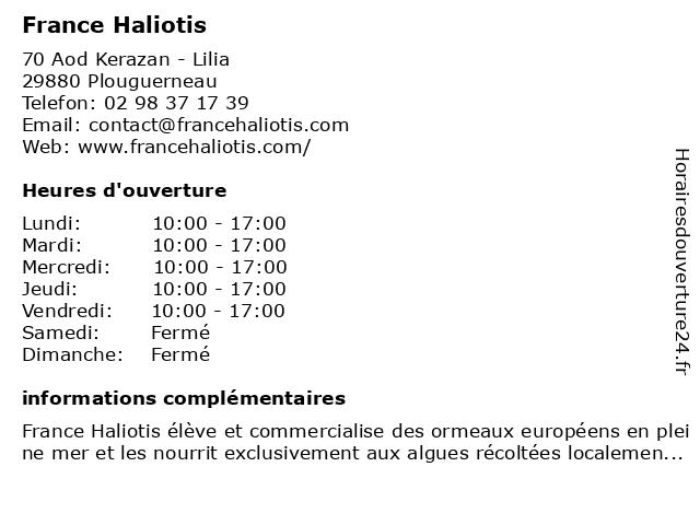 Abalone Bretagne à Plouguerneau: adresse et heures d'ouverture