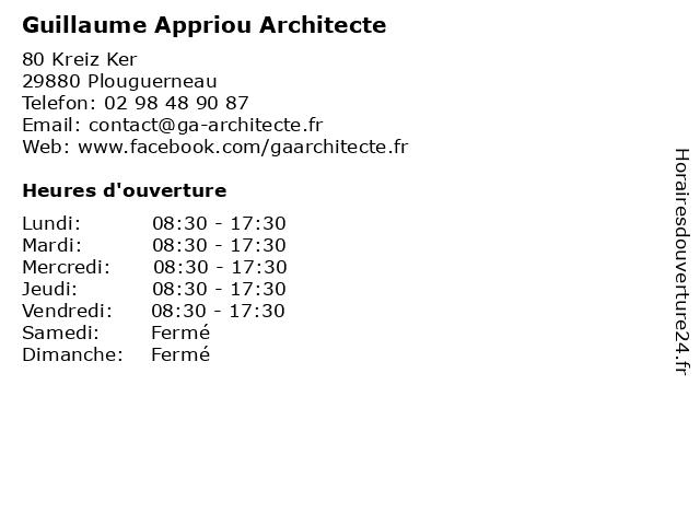 Guillaume Appriou Architecte à Plouguerneau: adresse et heures d'ouverture
