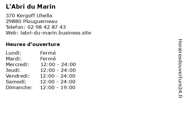 L'Abri du Marin à Plouguerneau: adresse et heures d'ouverture