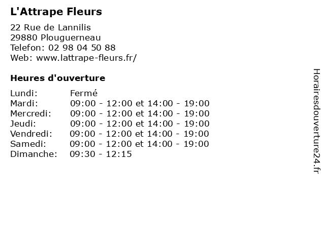 L'Attrape Fleurs à Plouguerneau: adresse et heures d'ouverture