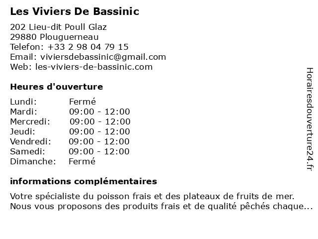 Les Viviers De Bassinic à Plouguerneau: adresse et heures d'ouverture