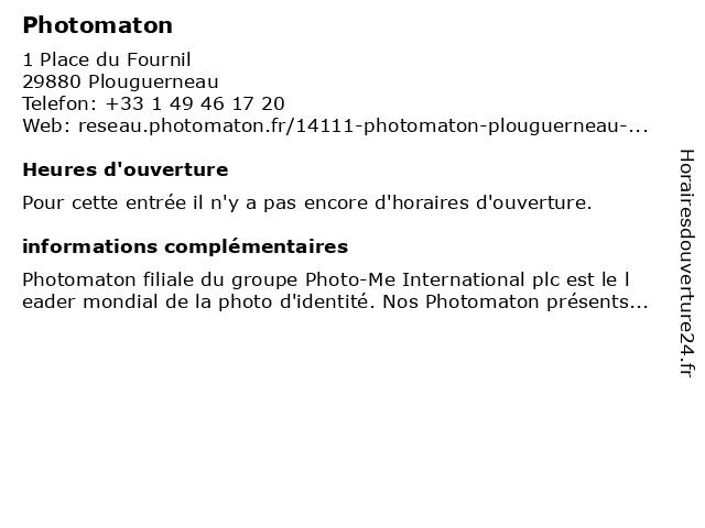 Photomaton à Plouguerneau: adresse et heures d'ouverture