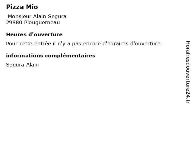 Pizza Mio à Plouguerneau: adresse et heures d'ouverture