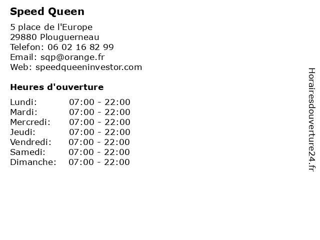 Speed Queen à Plouguerneau: adresse et heures d'ouverture