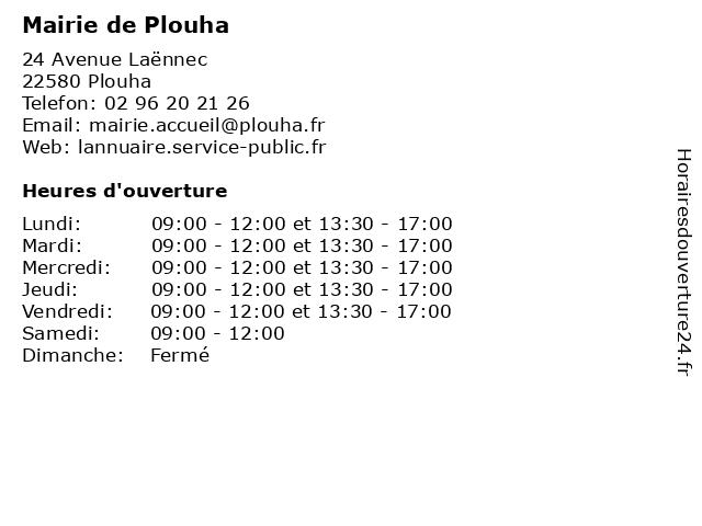 Mairie de Plouha à Plouha: adresse et heures d'ouverture