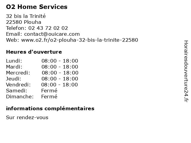 O2 Home Services à Plouha: adresse et heures d'ouverture