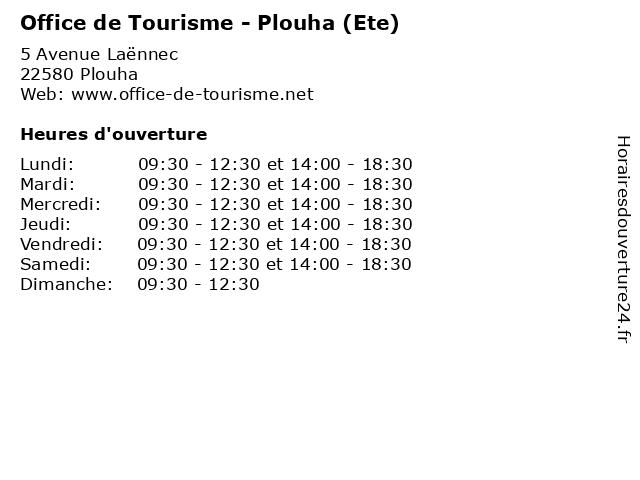 Office de Tourisme - Plouha (Ete) à Plouha: adresse et heures d'ouverture