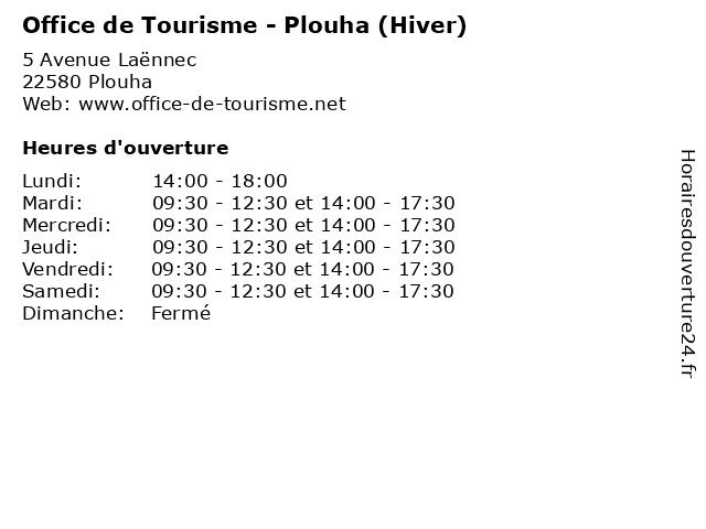 Office de Tourisme - Plouha (Hiver) à Plouha: adresse et heures d'ouverture