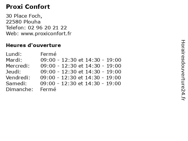 Proxi Confort à Plouha: adresse et heures d'ouverture