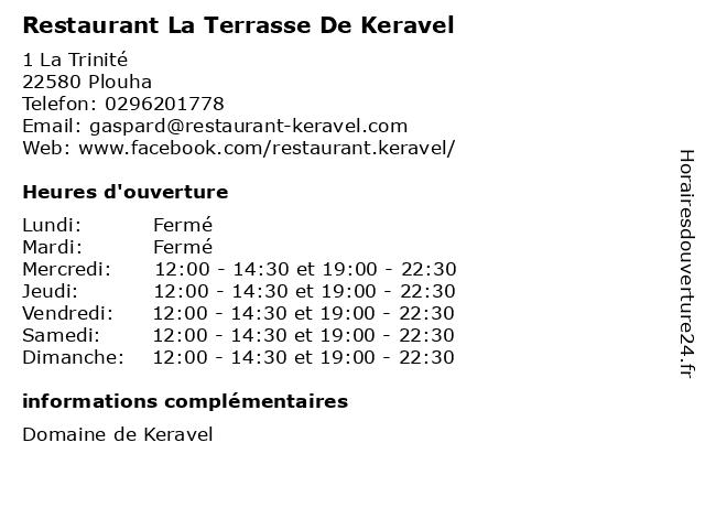 Restaurant La Terrasse De Keravel à Plouha: adresse et heures d'ouverture