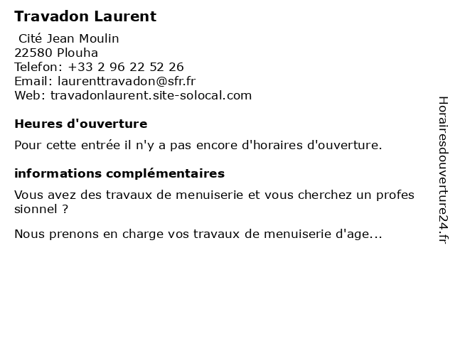 Travadon Laurent à Plouha: adresse et heures d'ouverture