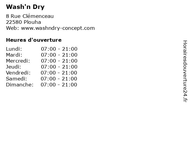 Wash'n Dry à Plouha: adresse et heures d'ouverture