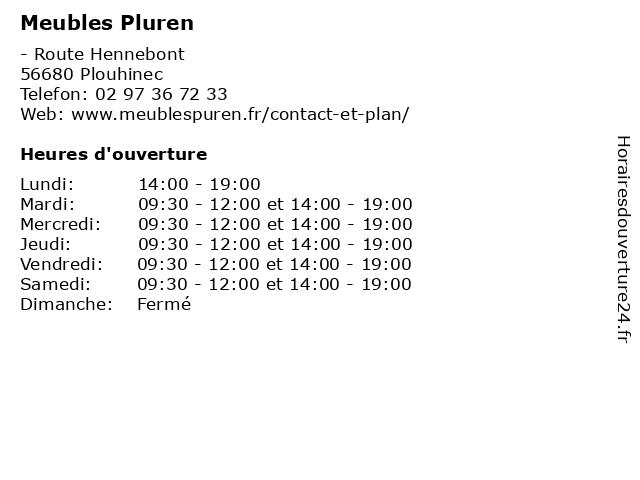 Meubles Pluren à Plouhinec: adresse et heures d'ouverture