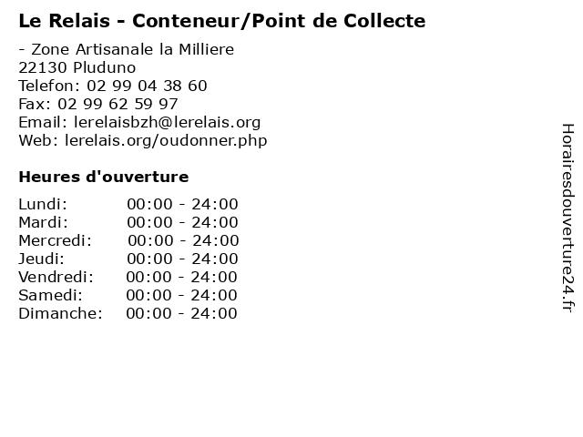 Le Relais - Conteneur/Point de Collecte à Pluduno: adresse et heures d'ouverture