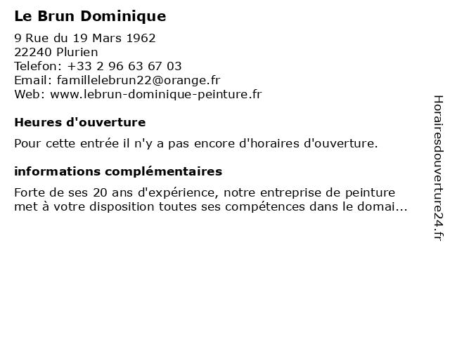 Le Brun Dominique à Plurien: adresse et heures d'ouverture