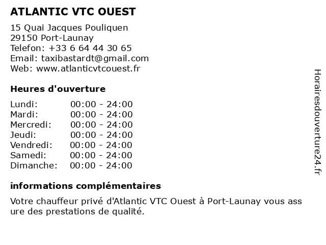 ATLANTIC VTC OUEST à Port-Launay: adresse et heures d'ouverture