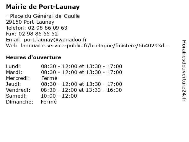 Mairie de Port-Launay à Port-Launay: adresse et heures d'ouverture