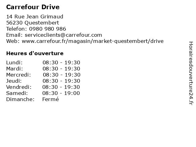 Carrefour Drive à Questembert: adresse et heures d'ouverture