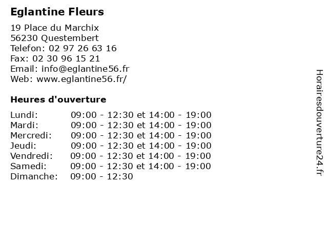 Eglantine Fleurs à Questembert: adresse et heures d'ouverture