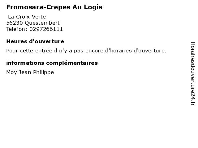 Fromosara-Crepes Au Logis à Questembert: adresse et heures d'ouverture