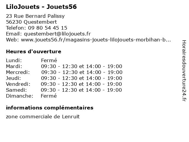 LiloJouets - Jouets56 à Questembert: adresse et heures d'ouverture