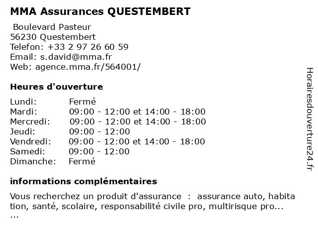 MMA QUESTEMBERT à Questembert: adresse et heures d'ouverture