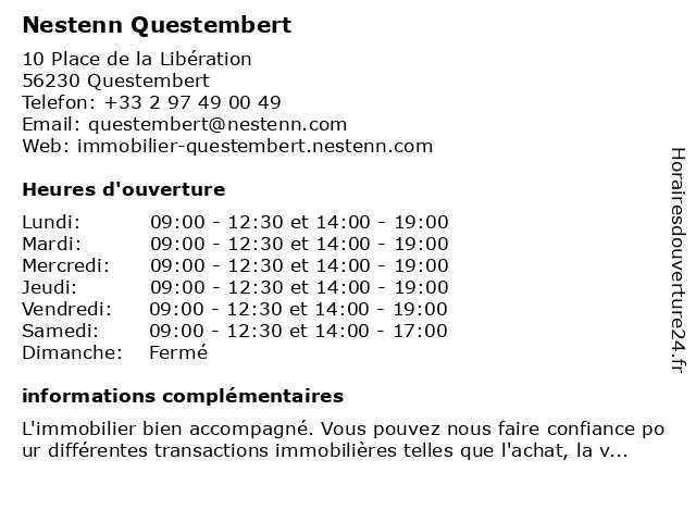 Nestenn Questembert à Questembert: adresse et heures d'ouverture